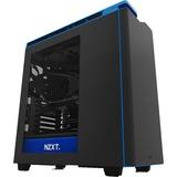 NZXT H440 unité centrale Boîtier Midi-tour Noir, Bleu, Châssis mini-tour Noir/Bleu, Boîtier Midi-tour, PC, Plastique, Acier, ATX,Micro-ATX,Mini-ITX, Noir, Bleu, 3x 120 mm