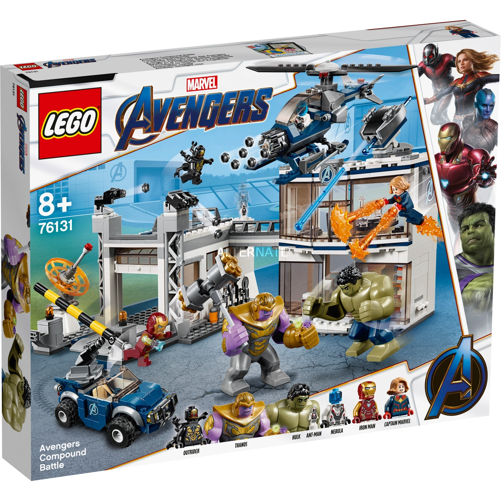 Le De Est Marvel Construction76131 Qg Pris Des Heroes Super D'assautJouets Avengers Nyw08nvmOP