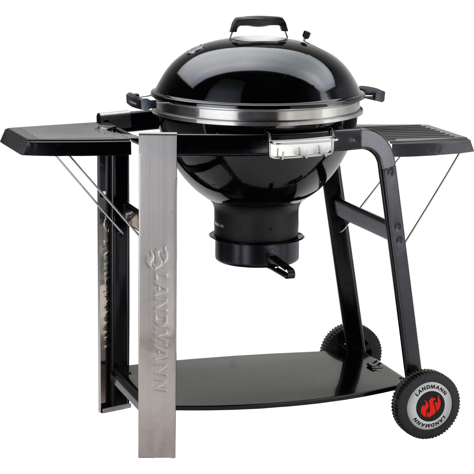 landmann 31346 noir, acier inoxydable barbecue et grill noir, 10